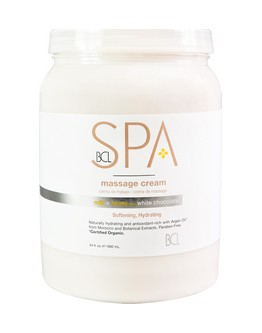 Crème de massage Lait, miel & chocolat blanc BCL SPA - 64 on (1.8 kg)