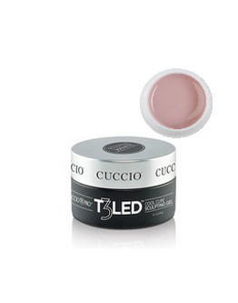 Gel T3 LED/UV rose pétale opaque Cuccio - 1 on