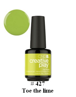 Gel Creative play 'Toe the lime' #427 - 0.5 on