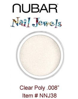 Paillettes Nubar 'Clear Poly' .008'' - 15 g