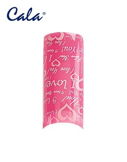 Pointes d'ongles 'Airbrush' Cala - Coeurs/pointe rose - 70/bte