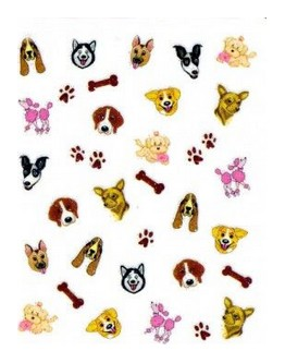 AAO-NA09-29N : Appliqués Joby pour ongles - Chiens